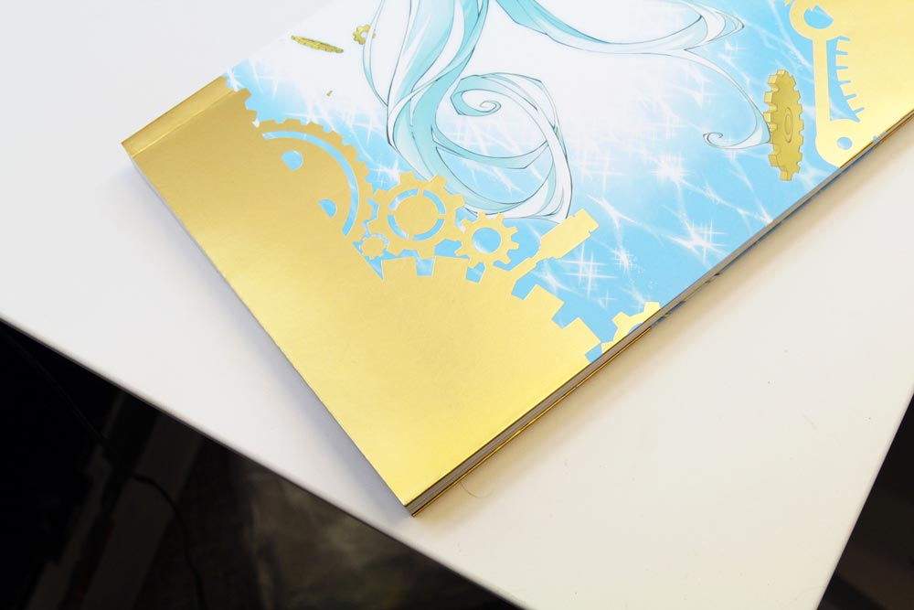 Foil Stamping Under Lamination Book Cover