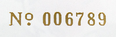 Sequential Hot Foil Numbering Stamp Silver Gold Kickstarter Reward